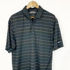 Nike Golf Dry Fit Mens Stripe Polo